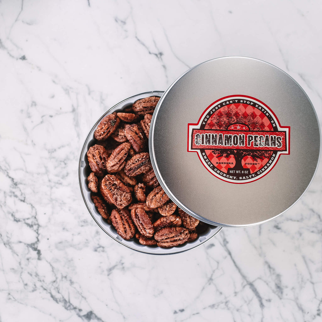 Cinnamon Pecans 8 oz Tin
