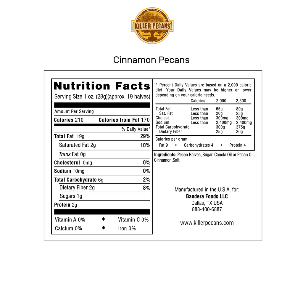 Cinnamon Pecans 8 oz Bag