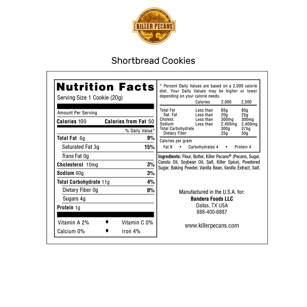 Shortbread Cookies 2 Dozen Tin