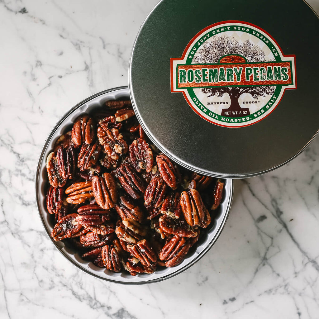 Olive Oil Roasted Rosemary Pecans 8 Oz Tin
