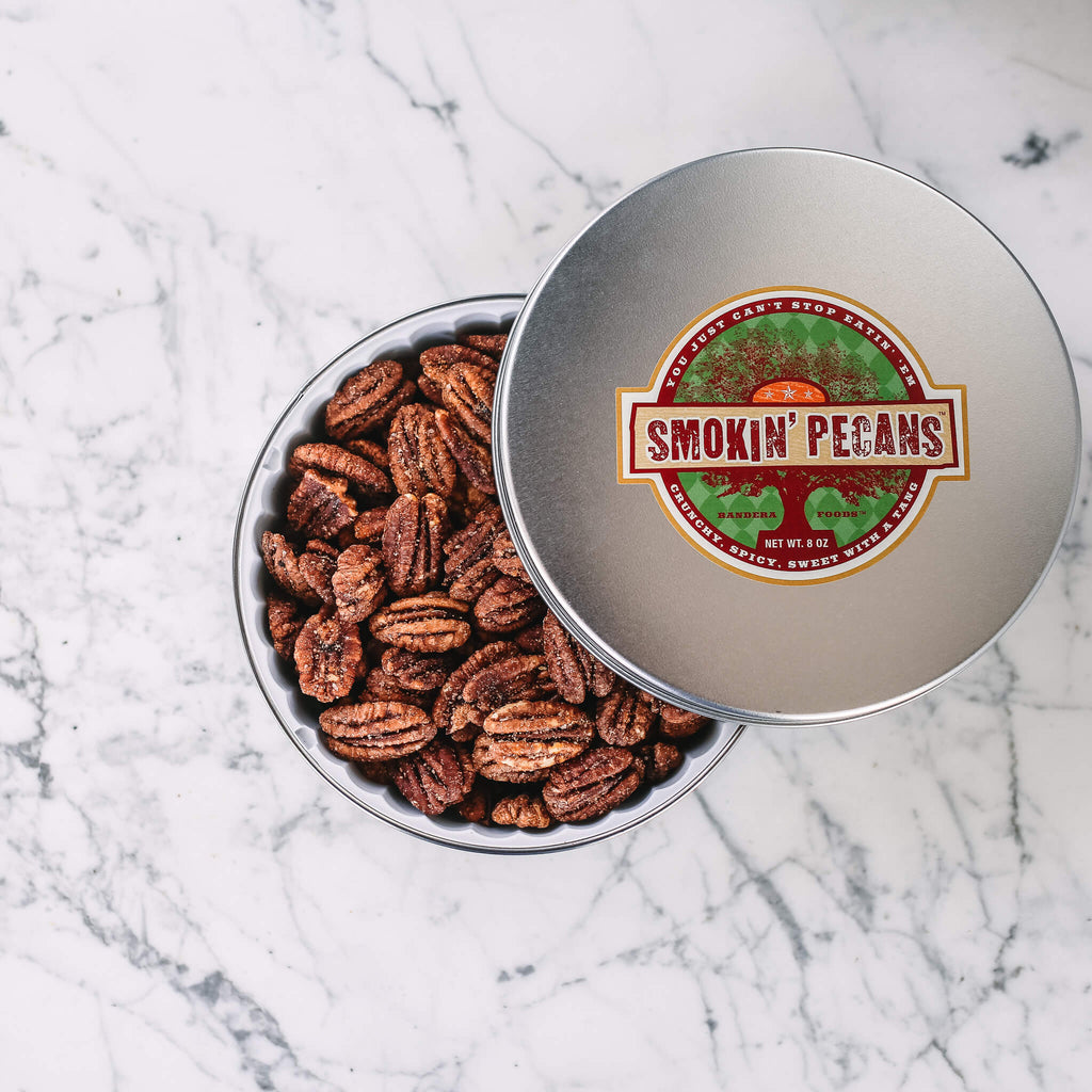Smokin' Pecans 8oz tin Smokey, BBQ spice. All Natural, Gluten-free