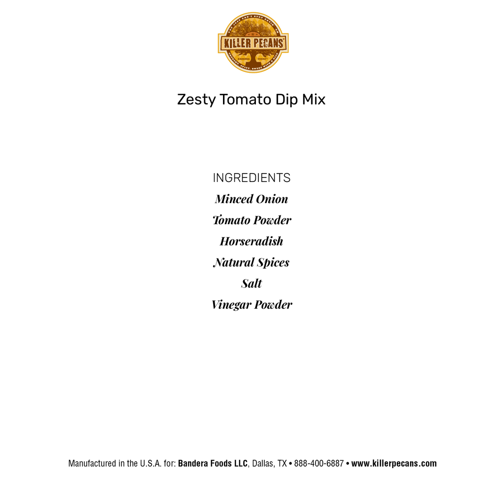 Zesty Tomato Dip Mix 1 oz pouch