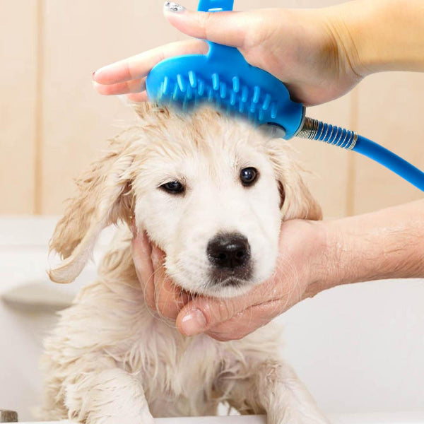 Dog Shower & Brush 2-in-1 Tool