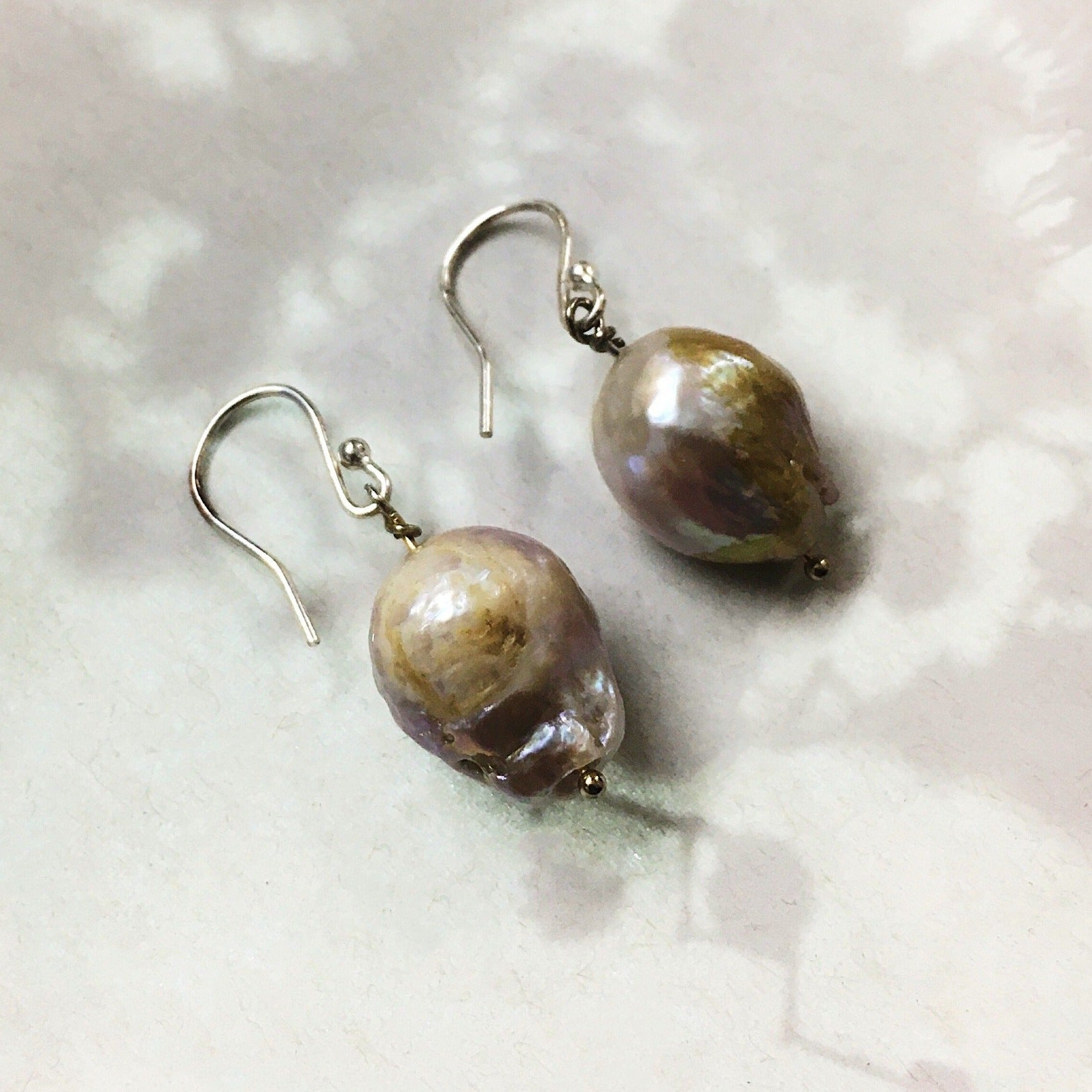 Tooth Pearl earrings