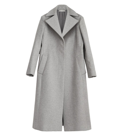 WONDEROUND LIGHT GREY TAILORED COAT