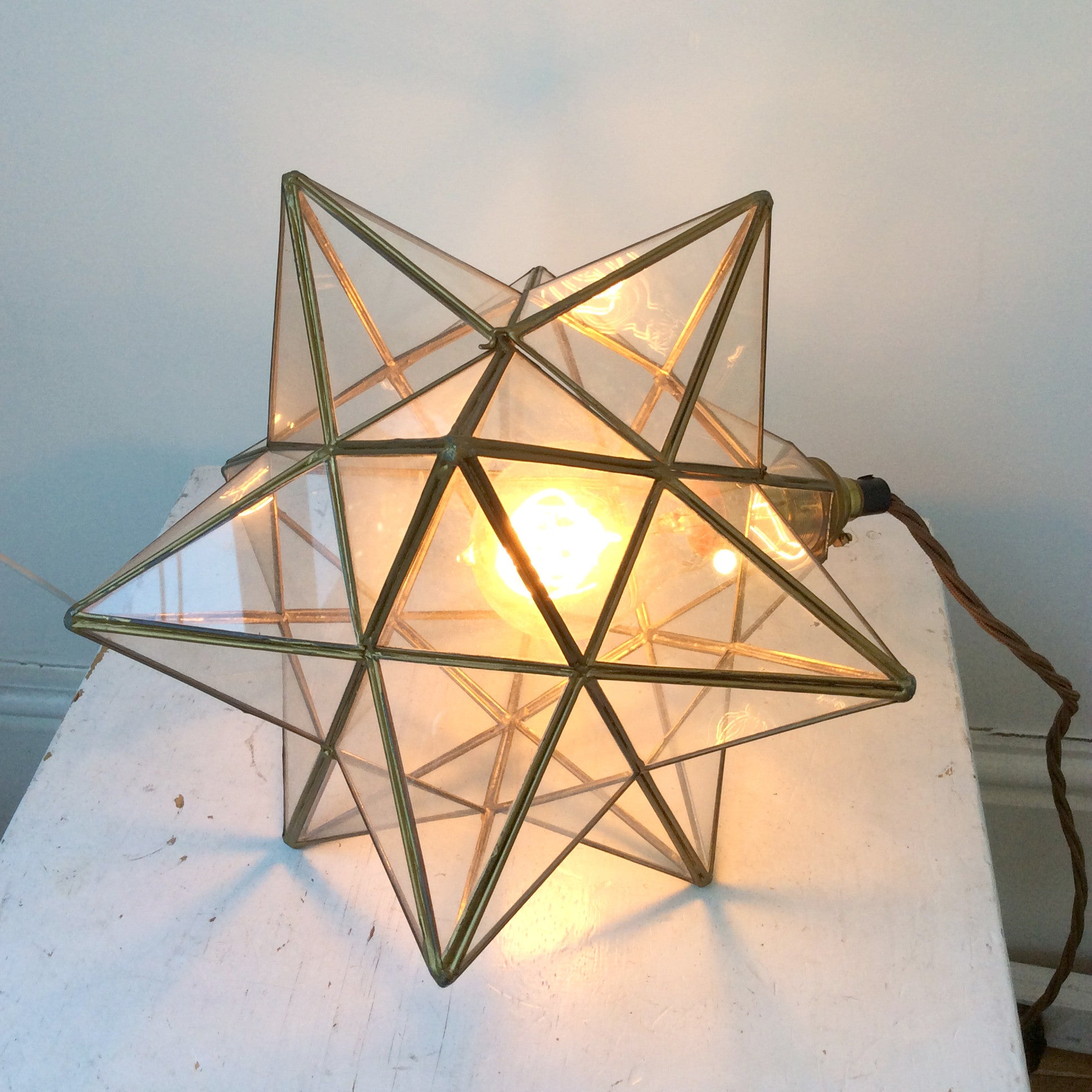 ANTIQUE STAR LANTERN LAMP