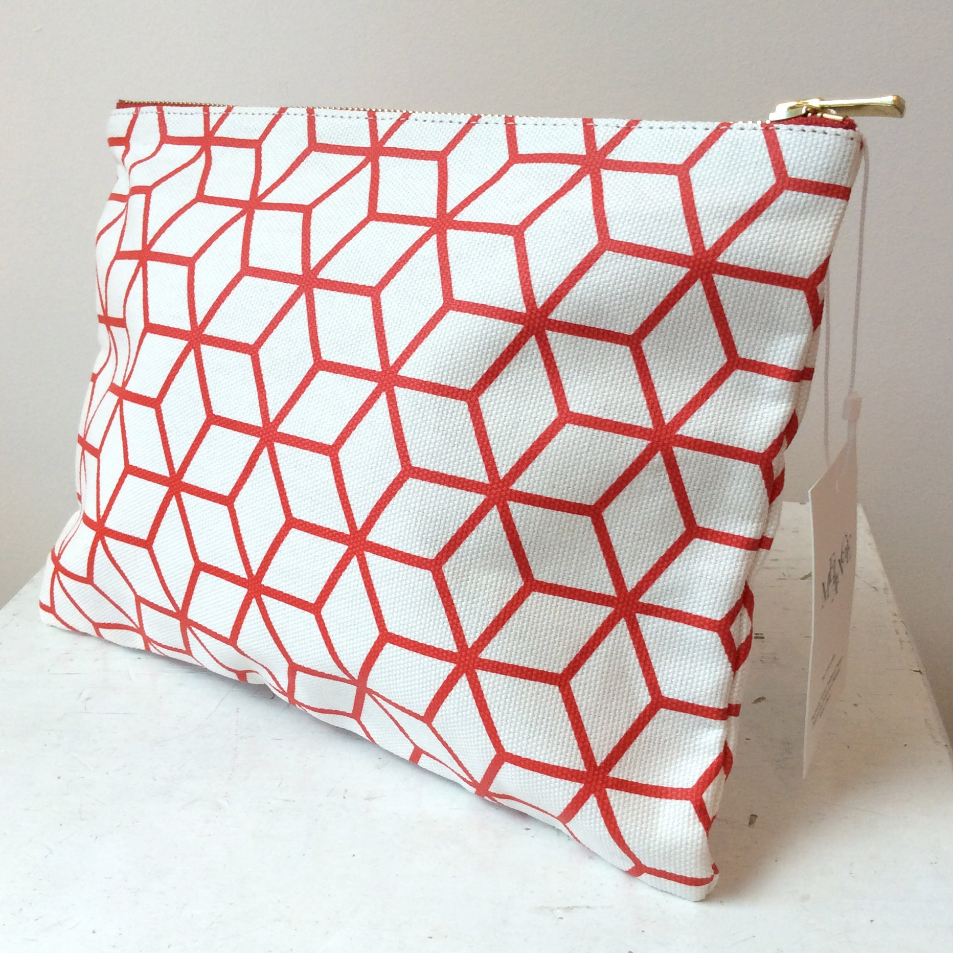 RANEE & COMPANY RED CUBE PURSE