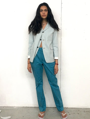 LOOK 17( MODY JACKET WITH SLIT TAILORED TROUSERS)