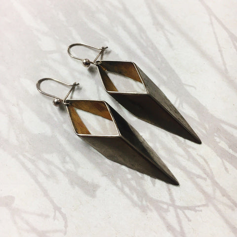 Vintage Brass Spectrum earrings