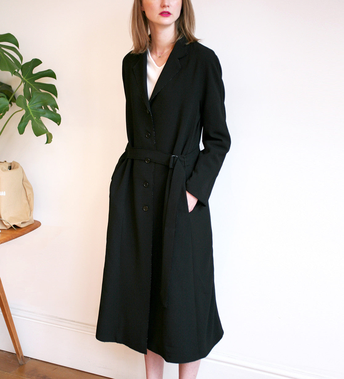 WONDEROUND SLIM RAGLAN SLEEVE LONG COAT