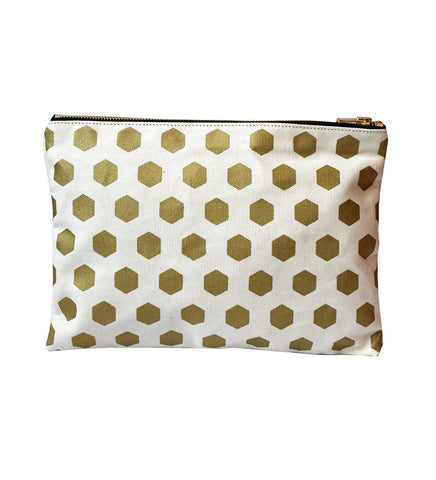 RANEE & COMPANY GOLD HEXAGON PURSE