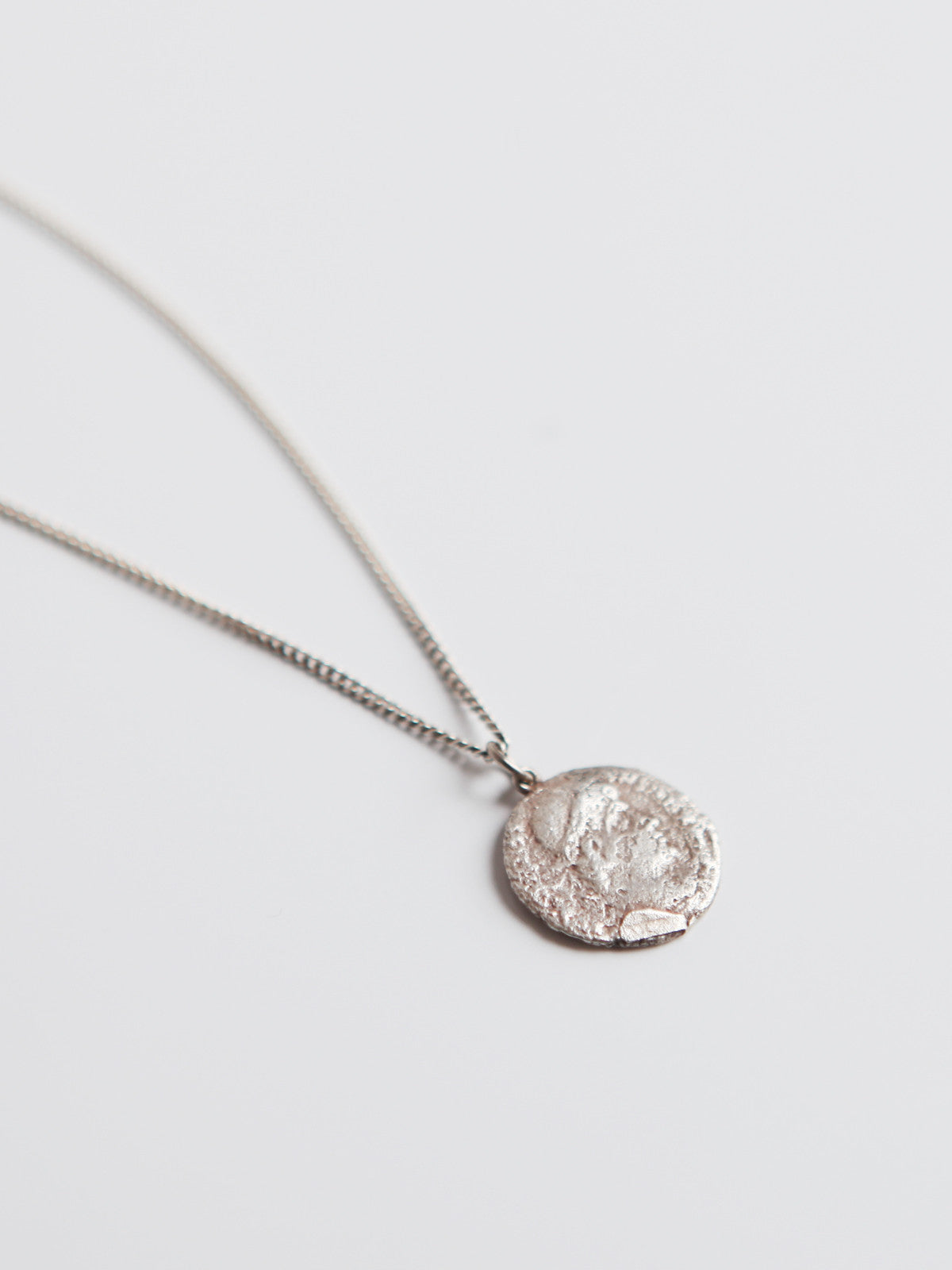 ORNAMENT & CRIME ROMAN COIN LONG SILVER CHAIN