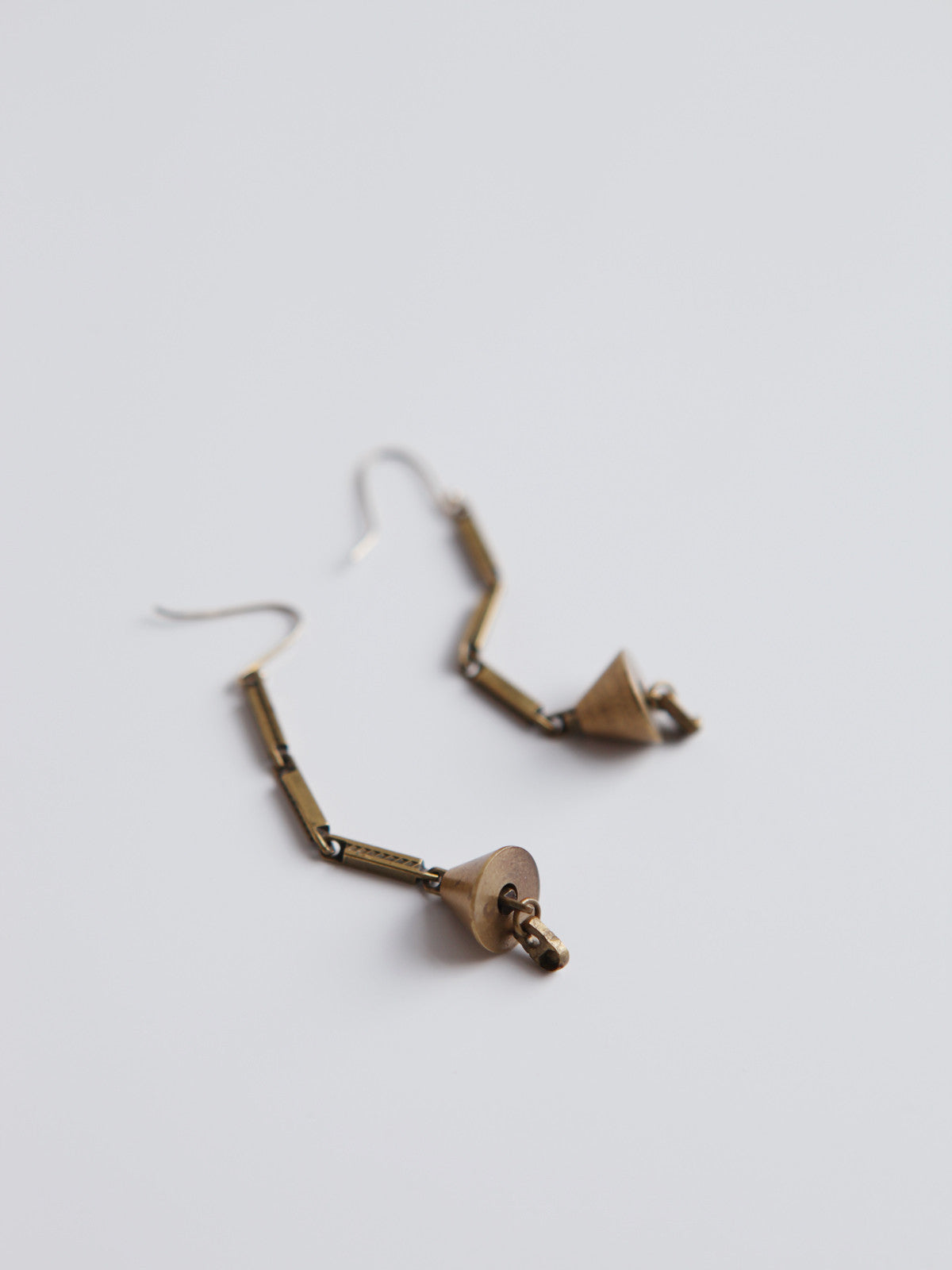 ORNAMENT & CRIME BRASS BELL EARRING