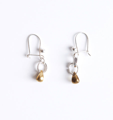 ORNAMENT & CRIME SILVER DROP EARRING