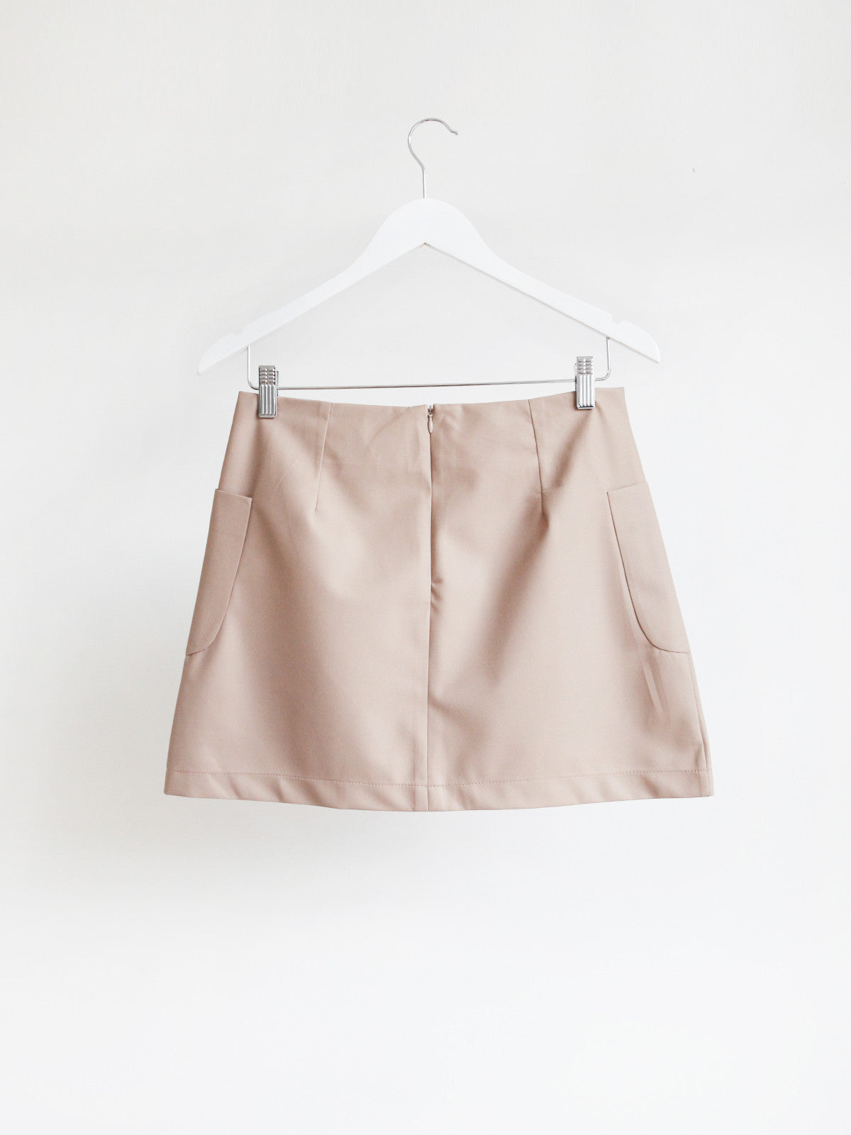 COCOON PVC SKIRT W/POCKETS