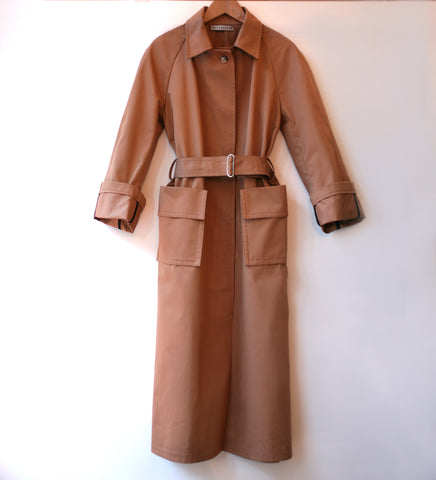 WONDEROUND HOOD RAGLAN TRENCH COAT