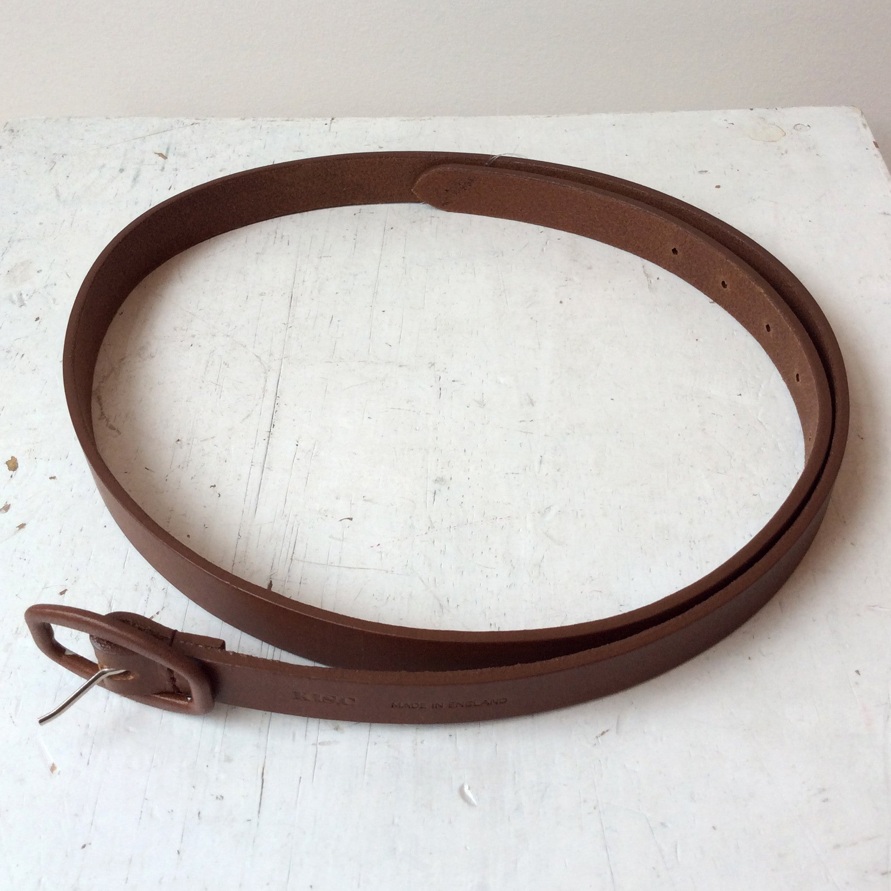 KIS,C THIN BLACK LEATHER BELT