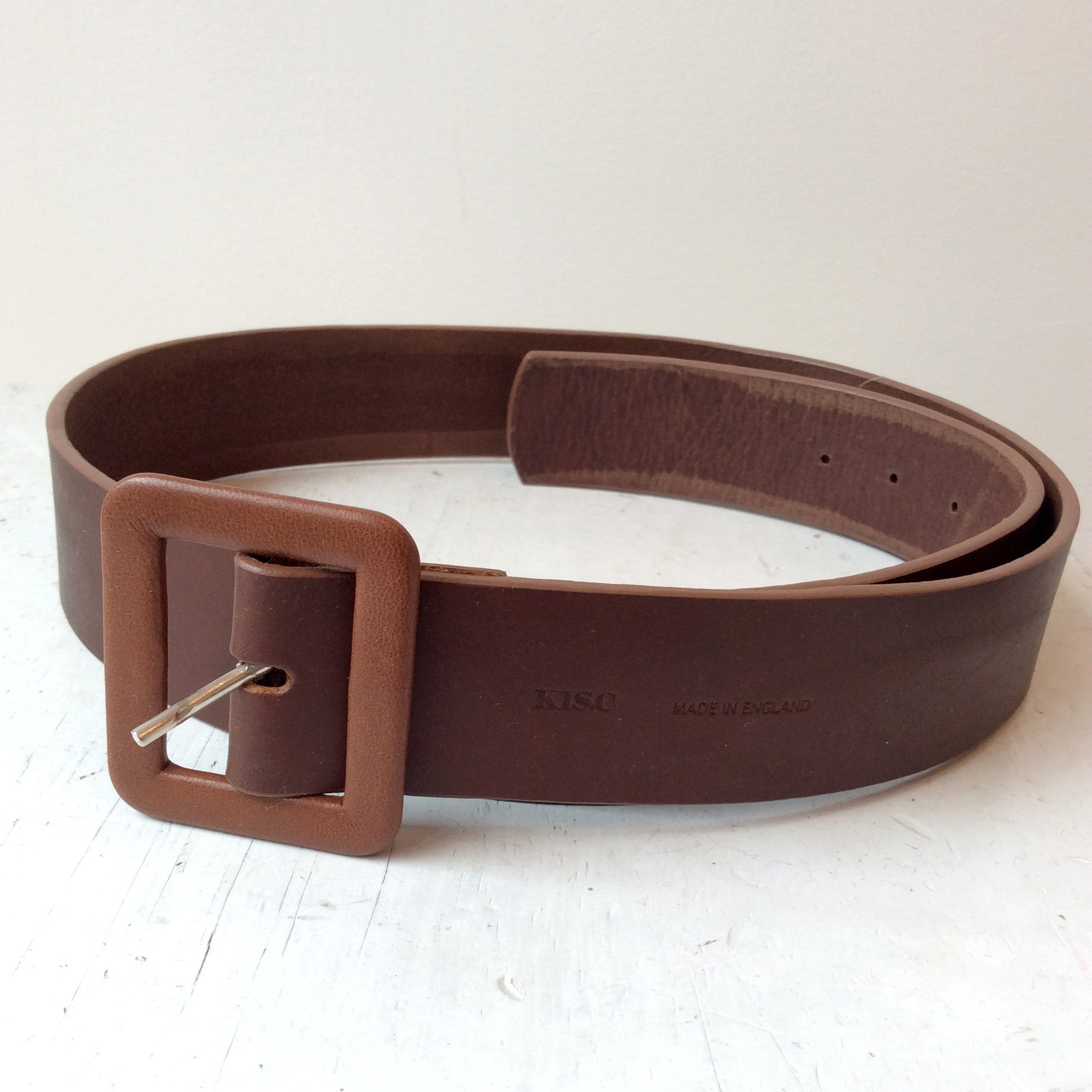 KIS,C WIDE BLACK LEATHER BELT