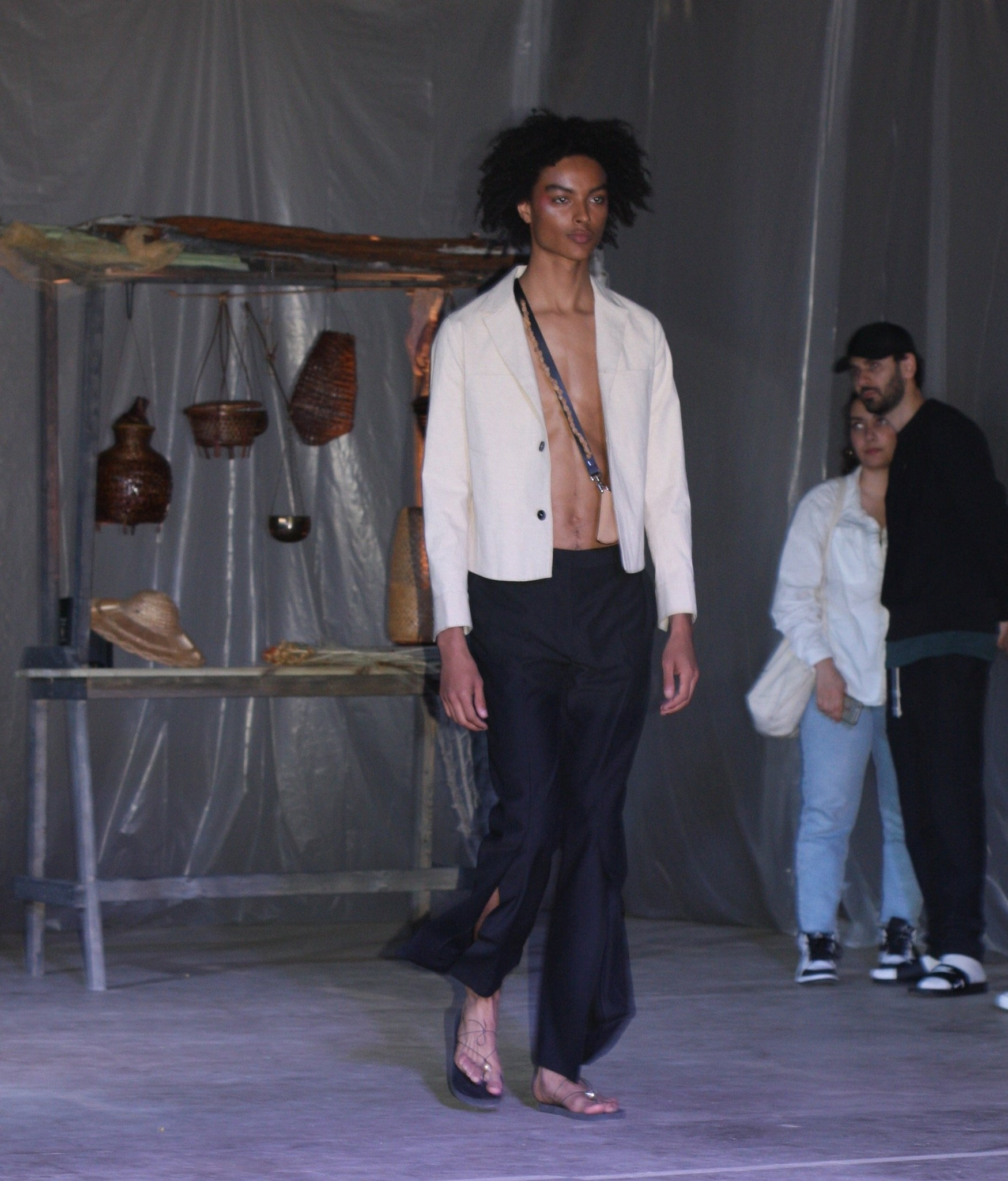 LOOK 8( NEWMAN WORK JACKET WITH HALK WAY SLIT TROUSERS)