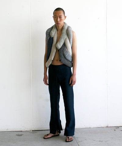 LOOK 9 (SOCK VEST TYPE #1 WITH SLIT TROUSERS)