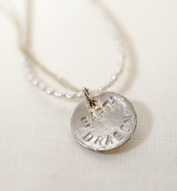 ORNAMENT & CRIME I-CHING MOON  NECKLACE