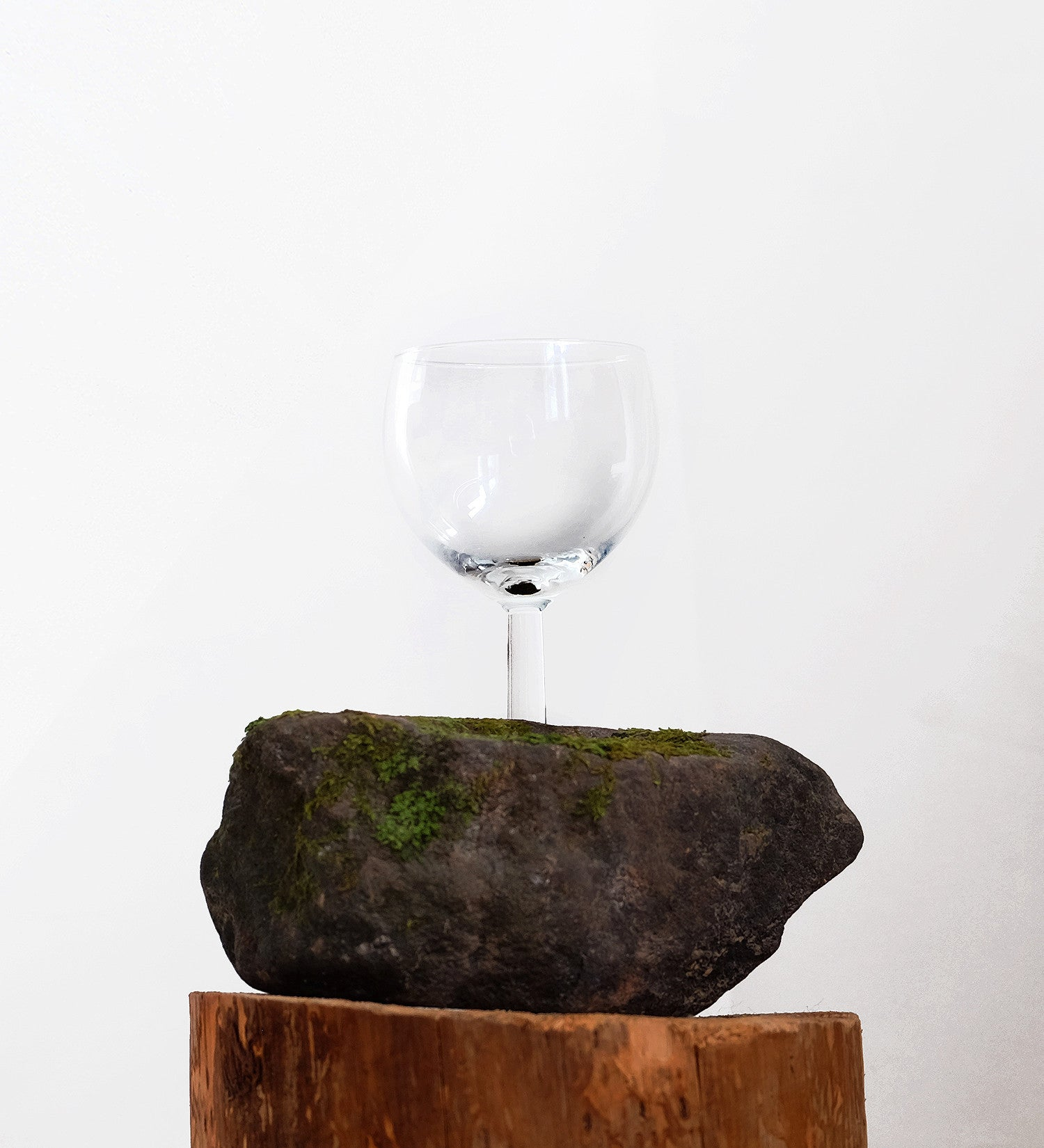 BLESS GLASS WITH STONE BASE