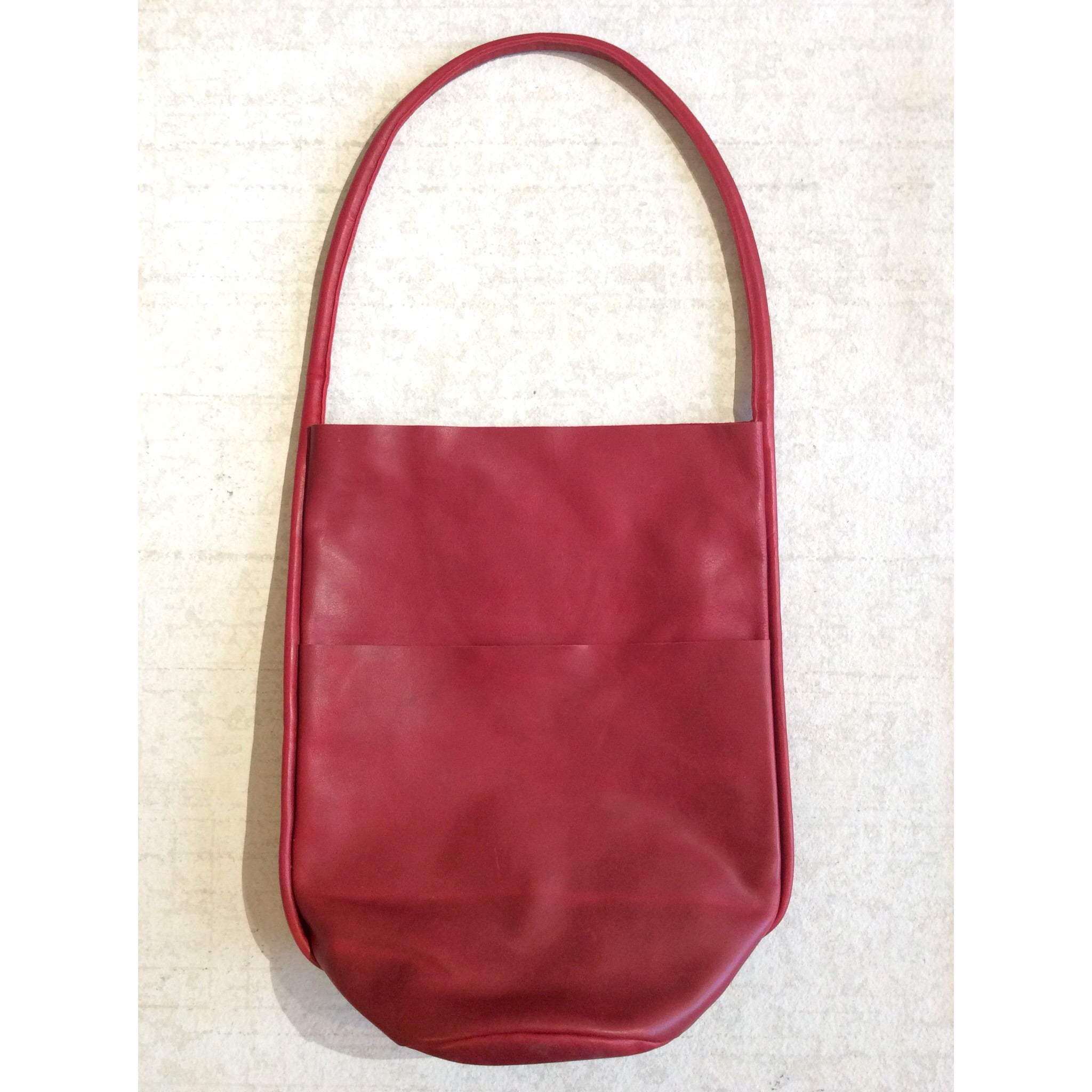 BODY SCULPTURES LEATHER SHOPPER BAG / RED