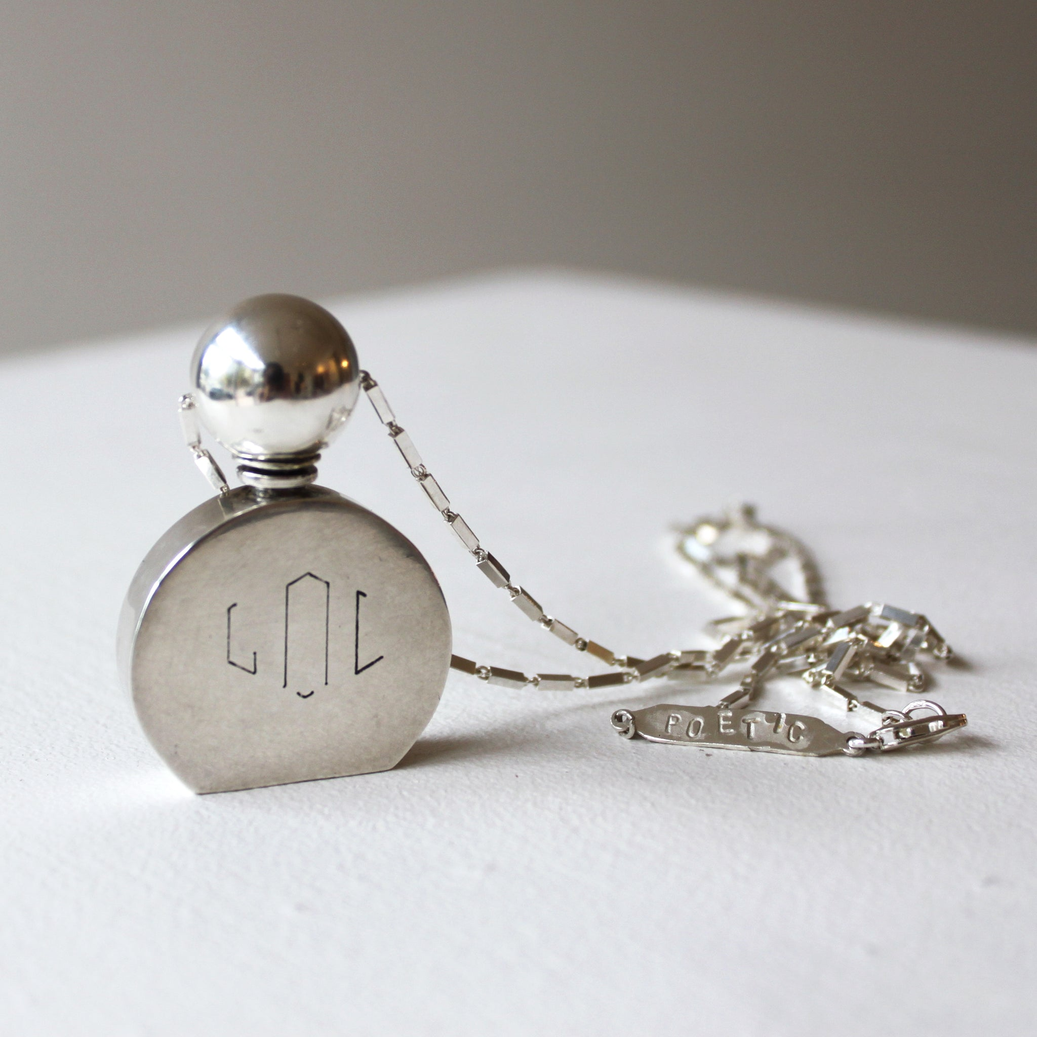 ORNAMENT & CRIME 'ANTONIN' PERFUME CONTAINER NECKLACE OC19