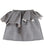 VON SONO KIDS SHORT RUFFLE SKIRT IN GREY