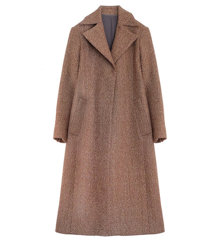 WONDEROUND BROWN SPARKLE TWEED TAILORED COAT