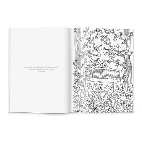 Birds & Blooms Coloring Book