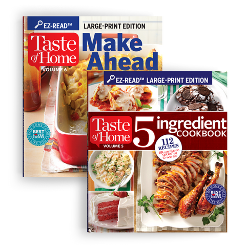 EZ-Read Cookbook Set: 5 Ingredient Cookbook + Make Ahead