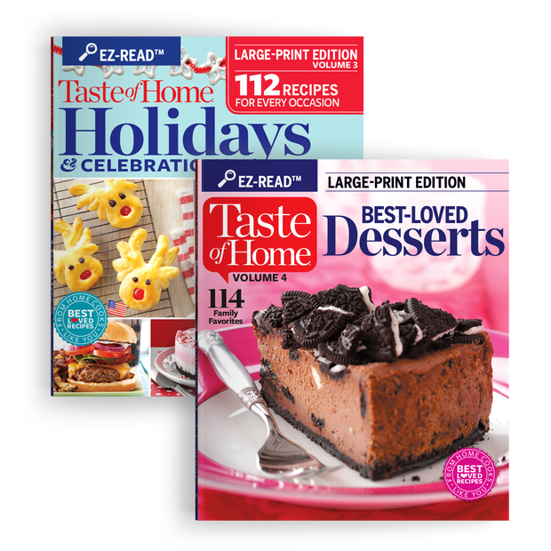 EZ-Read Cookbook Set: Holidays & Celebrations + Best-Loved Desserts