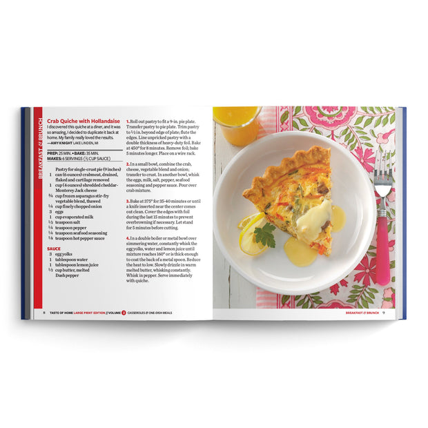EZ-Read Casseroles & One-Dish Meals