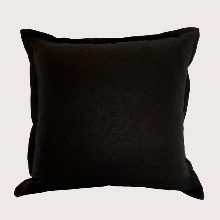 The Kate Linen Cushion - Black