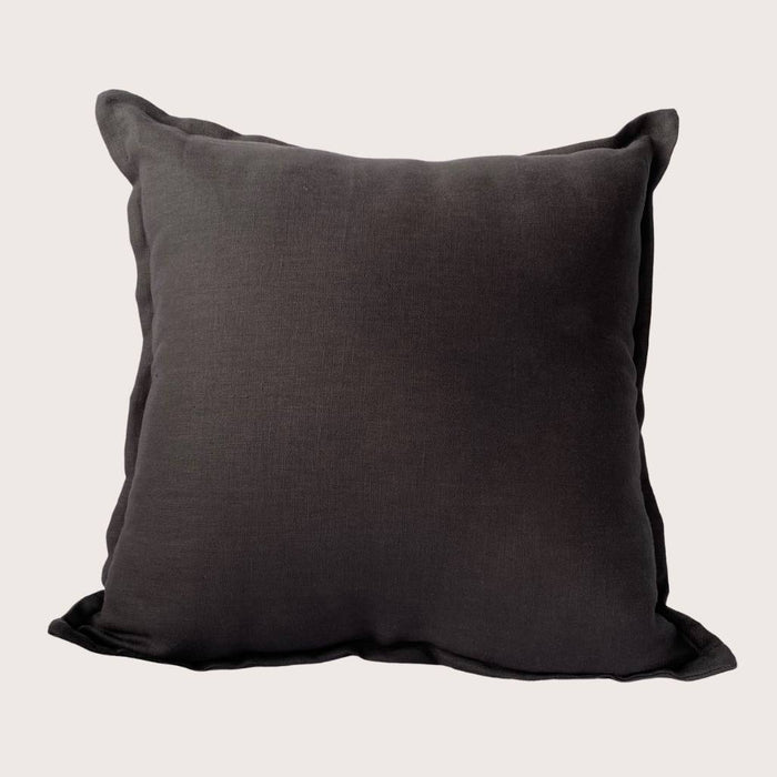 The Kate Linen Cushion - Charcoal