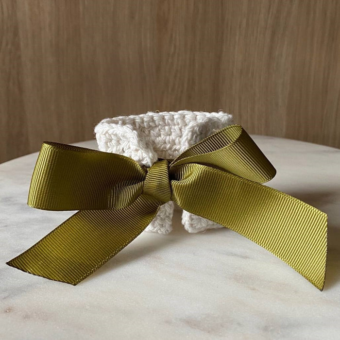 The Maggie Napkin Tie - Natural/Sage Ribbon (Set of 4)