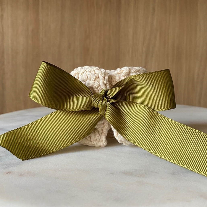 The Maggie Napkin Tie - Sand/Sage Ribbon (Set of 4)