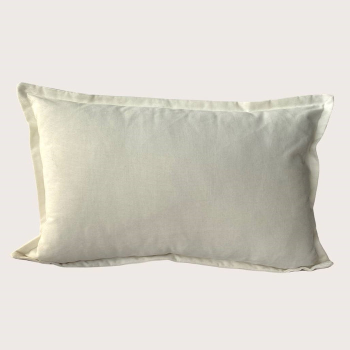 The Mary Corduroy Cushion - Winter White - Rectangle