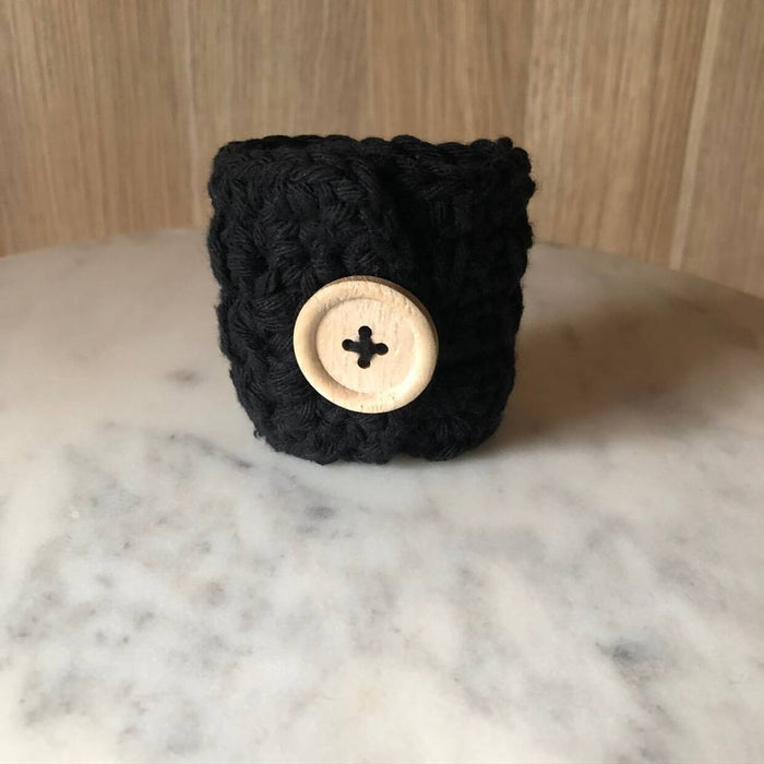 The Missy Napkin Ring - Black (Set of 4)