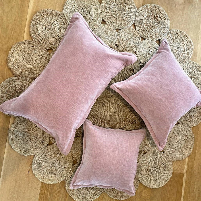 The Grace Velvet Cushion - Rose