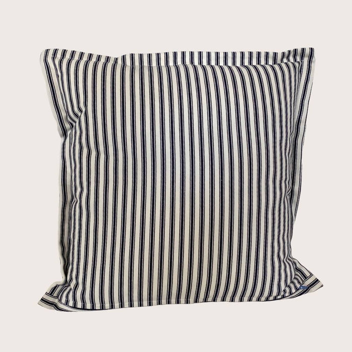 The Billie Stripe Cushion - Indigo