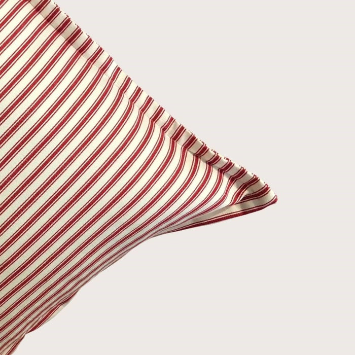 The Lauren Cushion - Raspberry Stripe Small