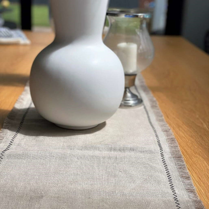 The Ziggy Table Runner - Natural