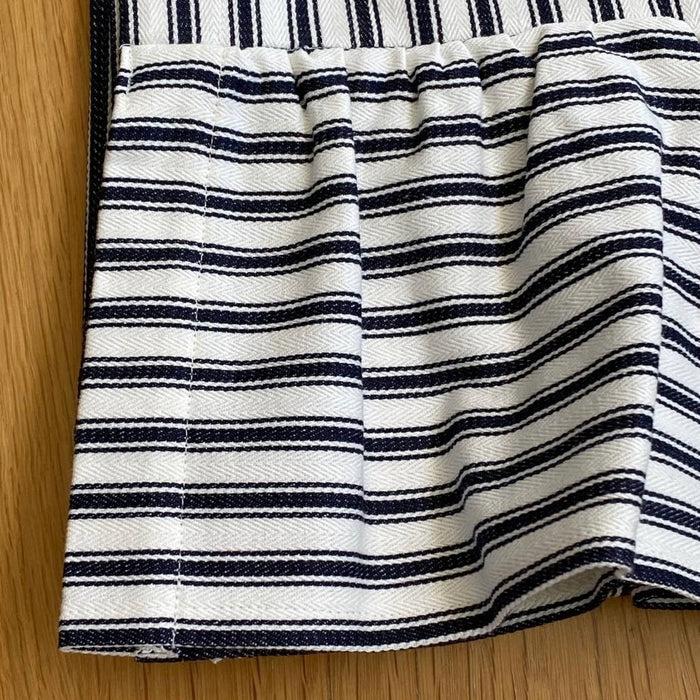 The Clara Table Runner - Navy Ticking - Extra Long