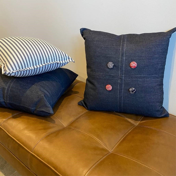 The Lauren Cushion - Denim Plain