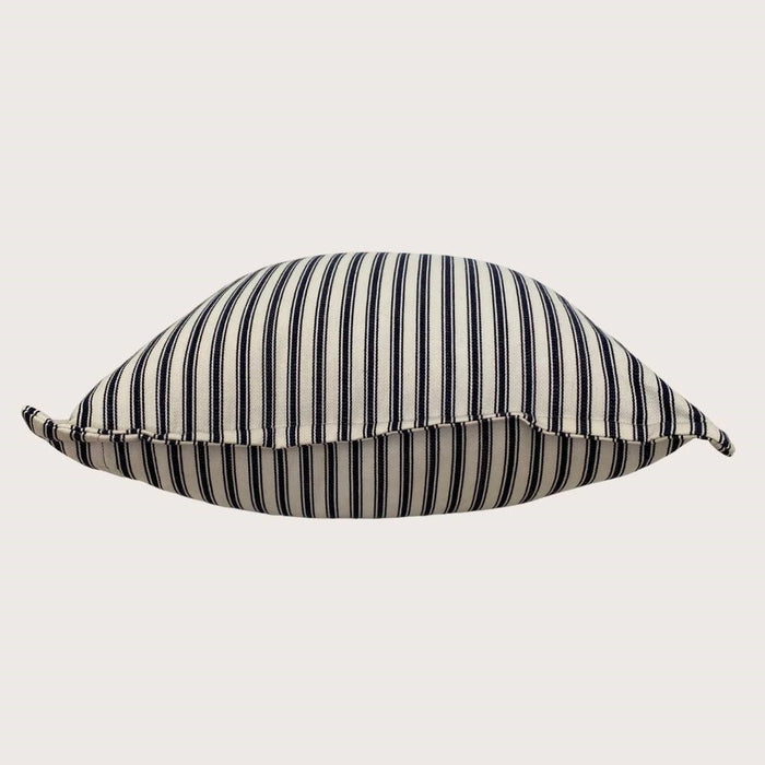 The Lauren Cushion - Navy Stripe Small