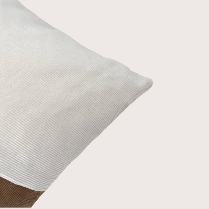 The Mary Corduroy Cushion - Winter White/Toffee