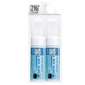 ZIG MEMORY SYSTEM 2 WAY GLUE Broad Tip 2 pc set w/plastic bag
