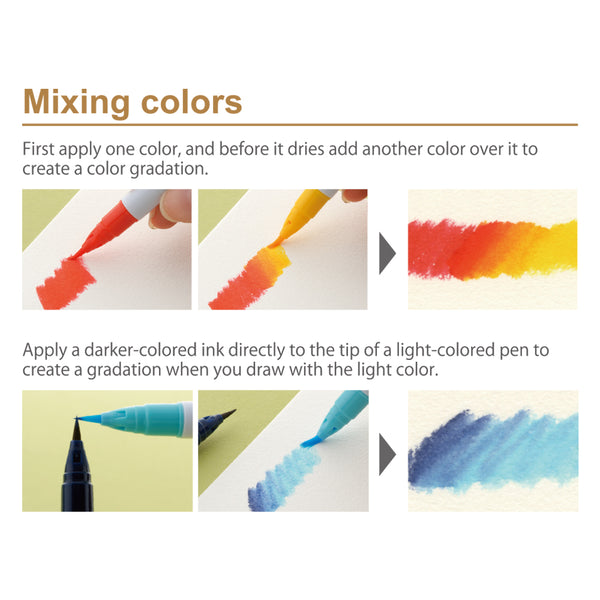 Zig Clean Color Real Brush Markers 12/Pkg